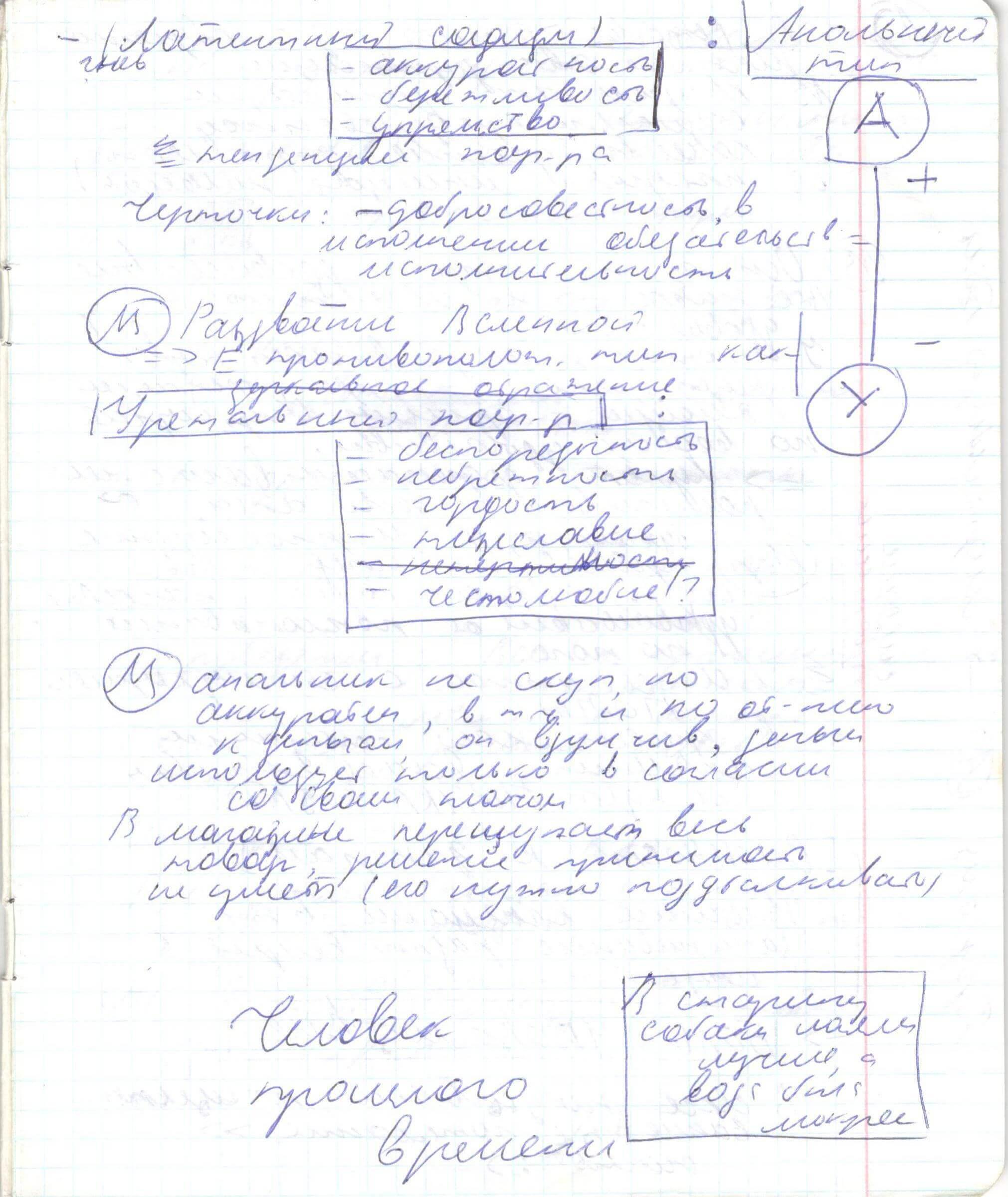 Конспекты ВиктОра Толкачева: Анальный вектор